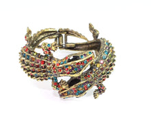 Load image into Gallery viewer, Multi Color Crocodile Statement Bangle