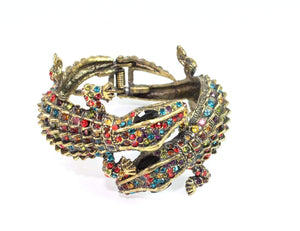 Multi Color Crocodile Statement Bangle