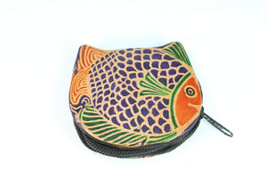 Colorful Fishies Coin Leather Purse
