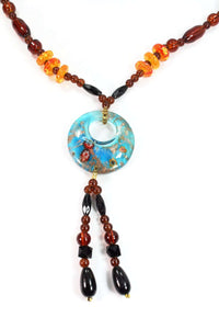 Round Pendant Gypsy Style Necklace