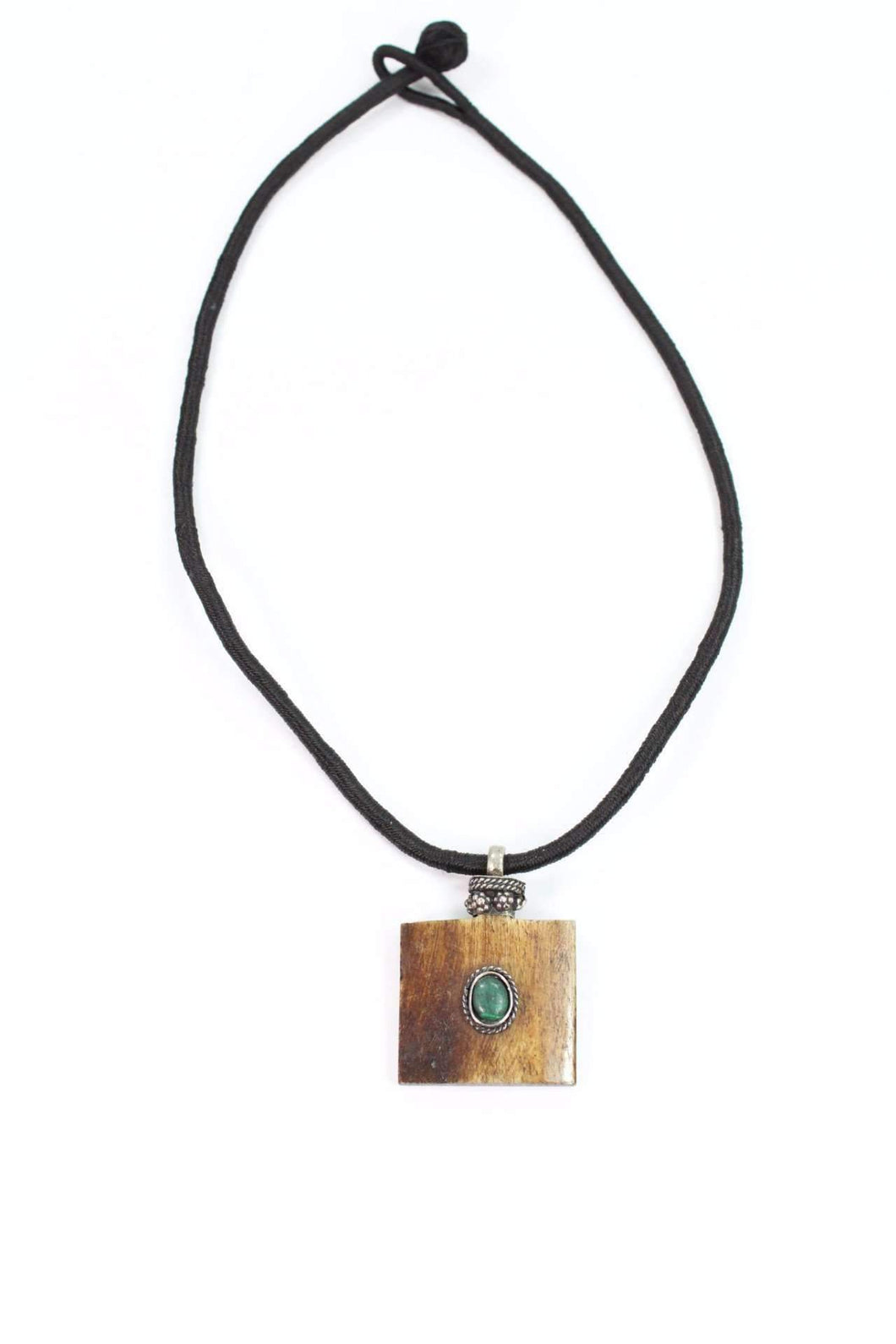 Horn & Stone Tribal Pendant Necklace