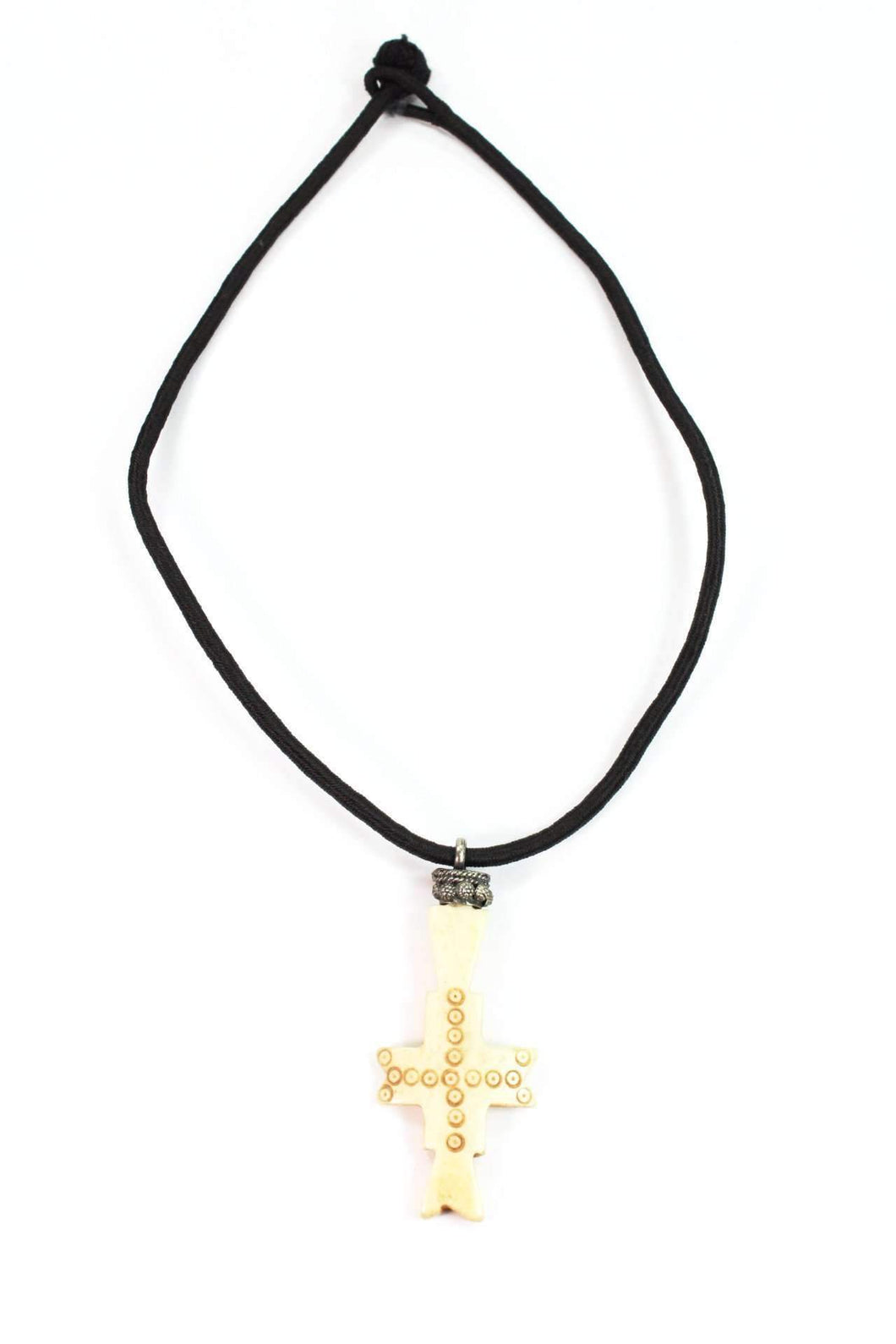 Bone Cross Tribal Pendant Necklace