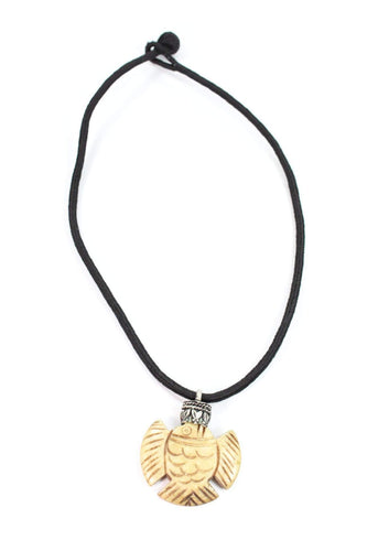 Blow Fish Bone Tribal Pendant Necklace