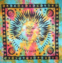 Load image into Gallery viewer, Divine Sun & Crescent Moon Tapestry