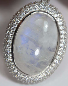 Rainbow Moonstone Necklace Pendant