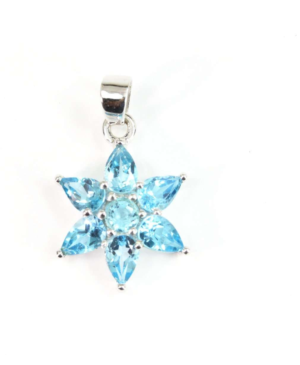 Swiss Blue Topaz Star Pendant | Wild Lotus