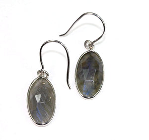 Sterling Silver Labradorite Dangler Earrings