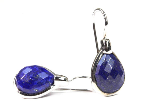 Lapis Lazuli Slide In Pear Shaped Earrings