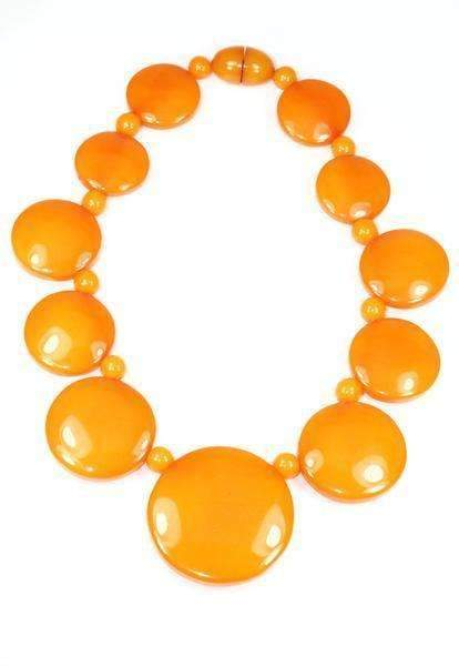 Amber Orange Graduated Statement Necklace