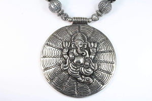 Ganesha in Cosmos Statement Necklace