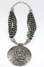 Load image into Gallery viewer, Ganesha in Cosmos Statement Necklace