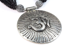 Load image into Gallery viewer, Om in Cosmos Statement Necklace
