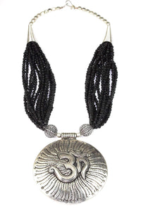 Om in Cosmos Statement Necklace
