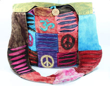 Load image into Gallery viewer, Cotton Stonewashed Om, Peace and Spiral Bag