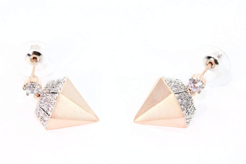 Rose Gold Diamond Girl Stud Earrings