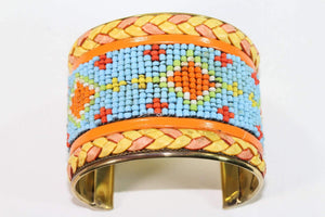 Beaded Cuff Bangles by Wild Lotus