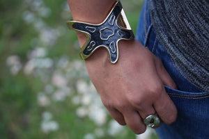 Starfish Glitz Bangle by Wild Lotus