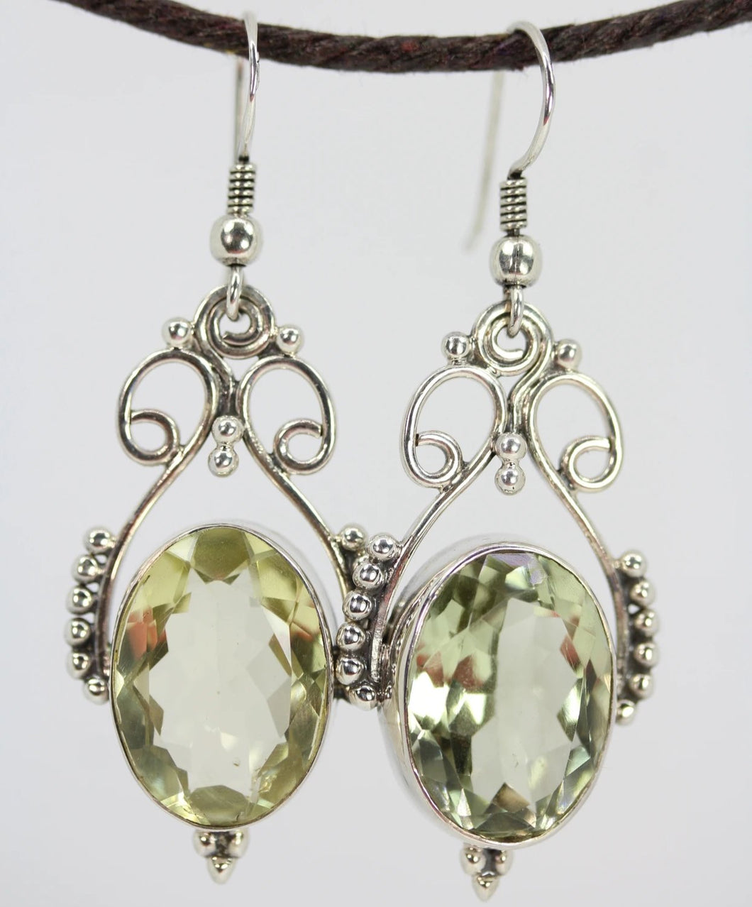 Open Work Prasiolite Queenly Earrings | Wild Lotus® | @wildlotusbrand