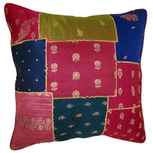 Load image into Gallery viewer, Indian Patchwork Cushion Cover Design Home Accent Furnishing