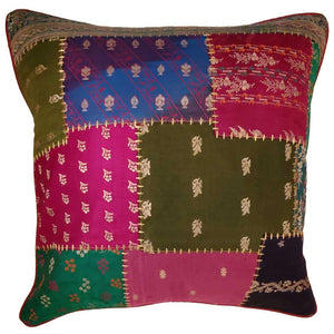 Indian Patchwork Cushion Cover Design Home Accent Furnishing | @wildlotusbrand | Wild Lotus®