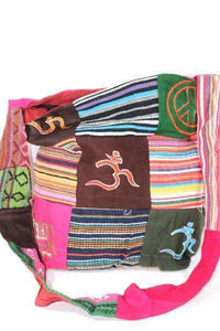 Mixed Symbols Durrie Patchwork & Pop Art Sling Jhola Bag | Wild Lotus