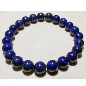 8mm Lapis Lazuli Beaded Elastic Stretch Bracelet | Wild Lotus® | @wildlotusbrand