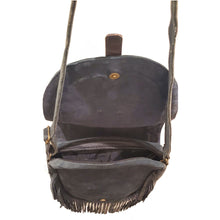 Load image into Gallery viewer, Leather Boho Fringe Suede Cross-body Bag with Adjustable Shoulder Strap