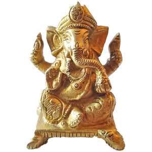 Little Ganesha Brass Statue | Wild Lotus®