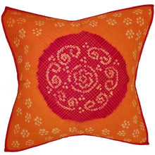 Load image into Gallery viewer, Mandala Bandhini Print Cotton Cushion Cover Design Floral Pattern Home Accent Furnishing - 16 x 16 | @wildlotusbrand | Wild Lotus®