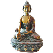 Load image into Gallery viewer, Medium Healing Buddha Brass Statue | Wild Lotus® | wildlotusbrand.com