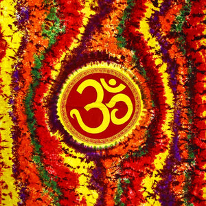 Om Shanti in Tie Dye Tapestry in Double(Full) size | Wild Lotus® | @wildlotusbrand