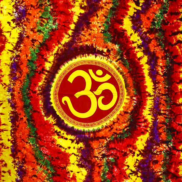 Om Shanti in Tie Dye Tapestry in Double(Full) size