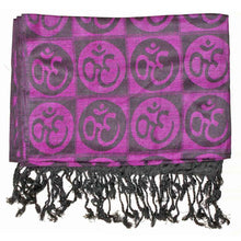 Load image into Gallery viewer, Om Meditation Symbol Handwoven Tassel Scarf