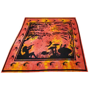 Orange Tie Dye Calling All Fairies Full Size Wall Tapestry