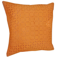 Load image into Gallery viewer, Orange Indian Cushion Cover Everyday Home Accent Furnishing - 16 x 16