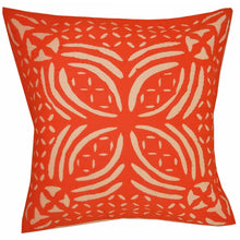"Load image into Gallery viewer, Orange Indian Cushion Cover Everyday Home Accent Furnishing - 16"" x 16"" 