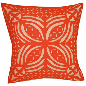 "Orange Indian Cushion Cover Everyday Home Accent Furnishing - 16"" x 16"" 
