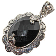 Load image into Gallery viewer, Victorian Style Black Onyx Oxidized Pendant