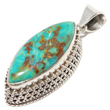 Load image into Gallery viewer, Turquoise Marquise Cut Pendant