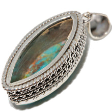 Load image into Gallery viewer, Turquoise Marquise Cut Pendant  | Wild Lotus® | @wildlotusbrand