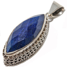 Load image into Gallery viewer, Lapis Lazuli Marquise Cut Pendant