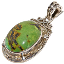 Load image into Gallery viewer, Rope-work Turquoise Cabochon Pendant
