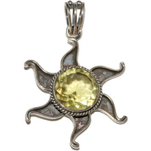 Load image into Gallery viewer, Sun Praise Oxidized Prasiolite Pendant