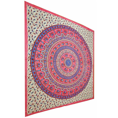 Pink Elephant Mandala Floral Background Tapestry | Wild Lotus® | @wildlotusbrand | wildlotusbrand.com