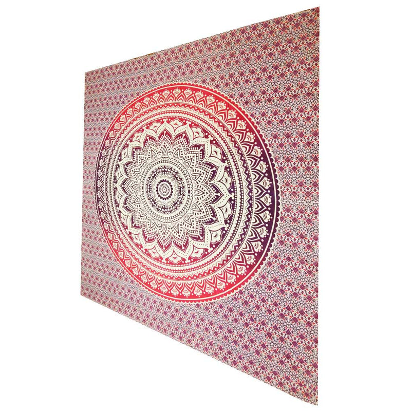 Pink Ombre Art Pattern Full Size Sheet Tapestry Wall Hanging Decoration | Wild Lotus® | @wildlotusbrand