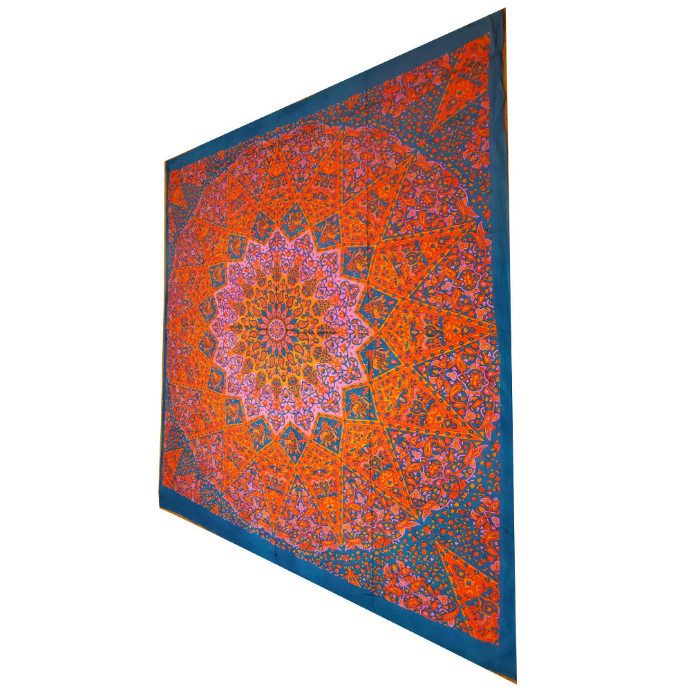 Pink Chakra Star Sign Indian Elephant Mandala Full Size Wall Tapestry Hanging | @wildlotusbrand | Wild Lotus®