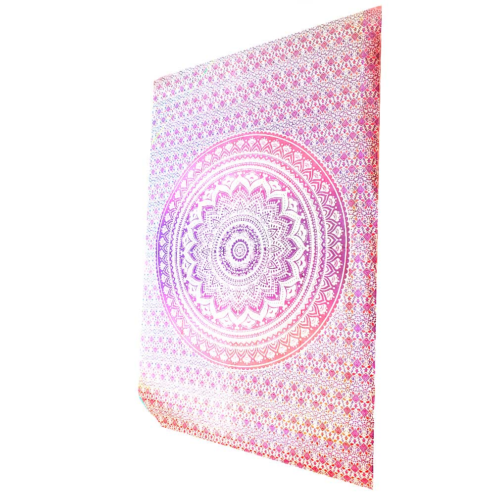 Pink Ombre Art Pattern Cotton Tapestry Wall Hanging | Wild Lotus® | @wildlotusbrand