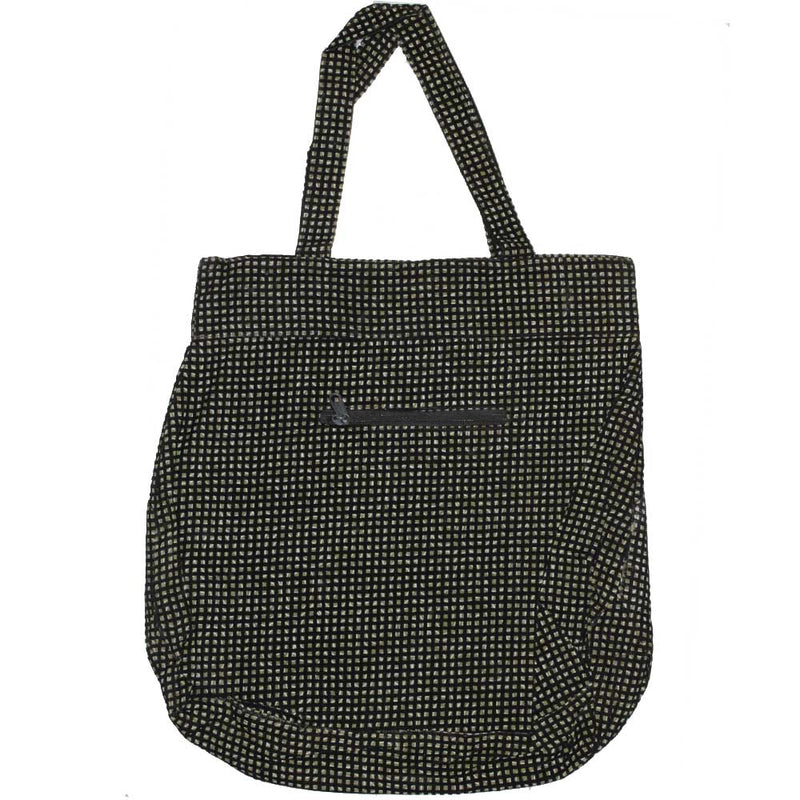 Pleated Trouser Pattern Tote Bag with Pockets and Compartments | Wild Lotus® | @wildlotusbrand