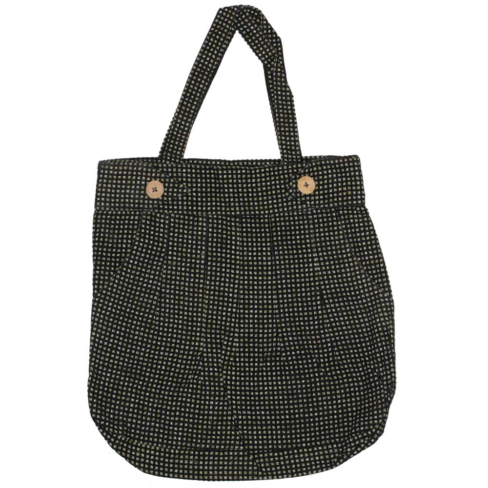 Pleated Trouser Pattern Tote Bag with Pockets and Compartments | Wild Lotus®