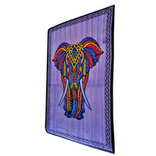 Load image into Gallery viewer, Purple Indian Bohemian Elephant Brushstroke Art Tapestry Wall Hanging Decoration | Wild Lotus® | @wildlotusbrand